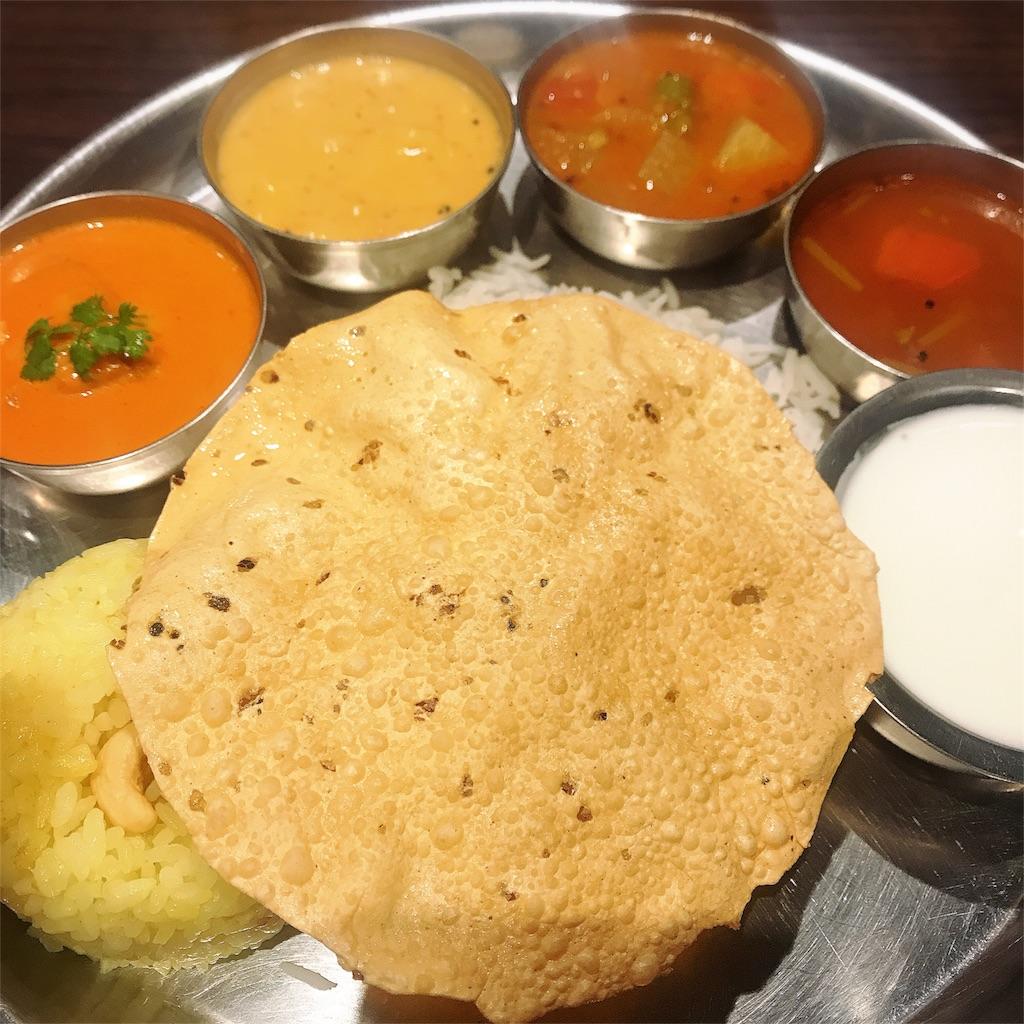南インド料理 ミールス 写真