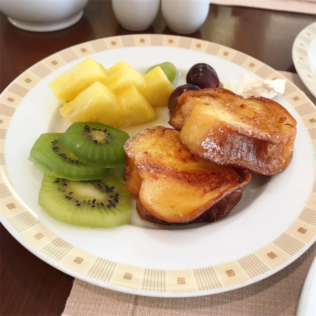 帝国ホテル ビュッフェ 朝食 フレンチトースト 写真