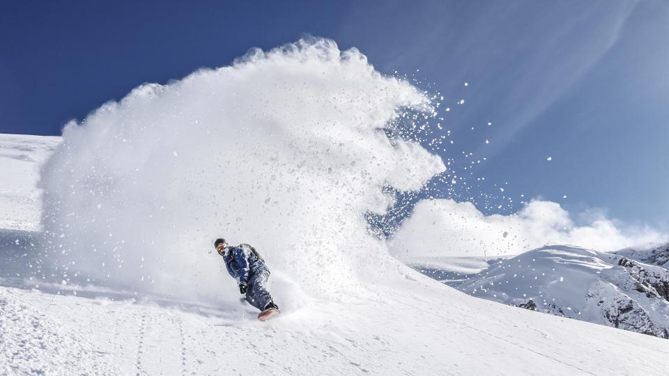 スノーボード雪山