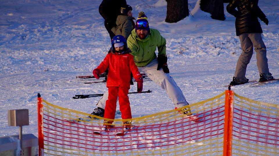 スキー場家族