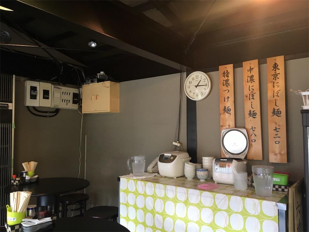 大八車 桜新町 駒沢 ラーメン つけ麺 店内