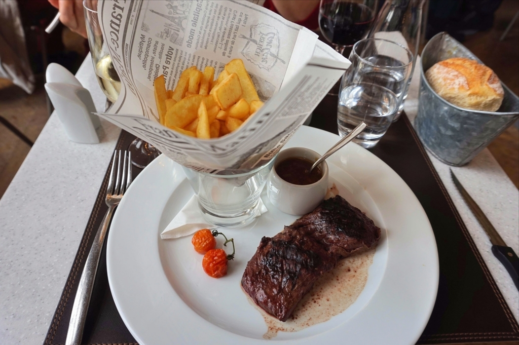 オルセー美術館レストランのステーキ
