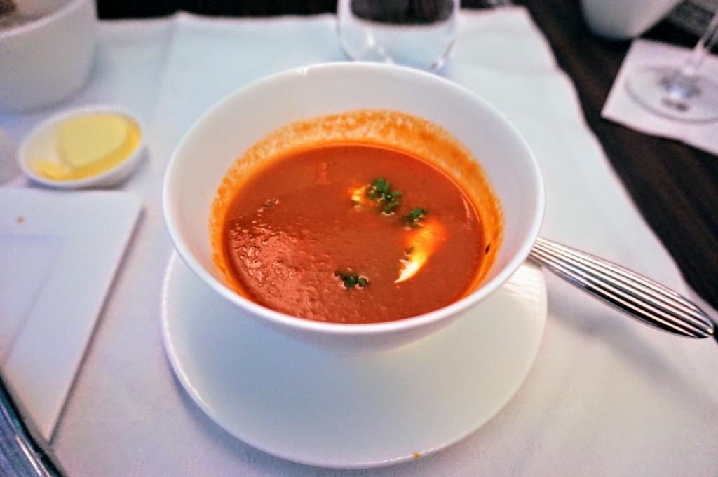 ビジネスクラス今日のスープ