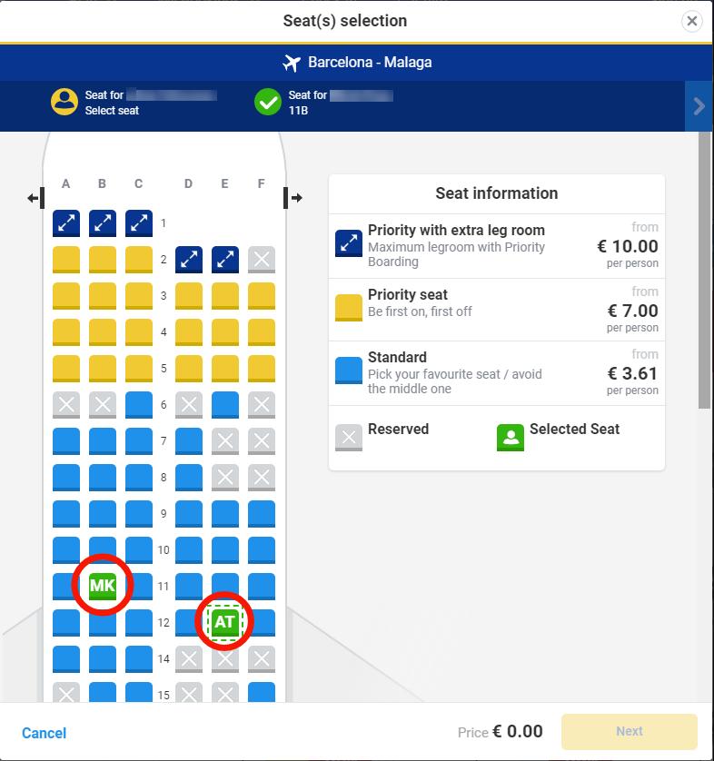 Ryanair座席指定は有料