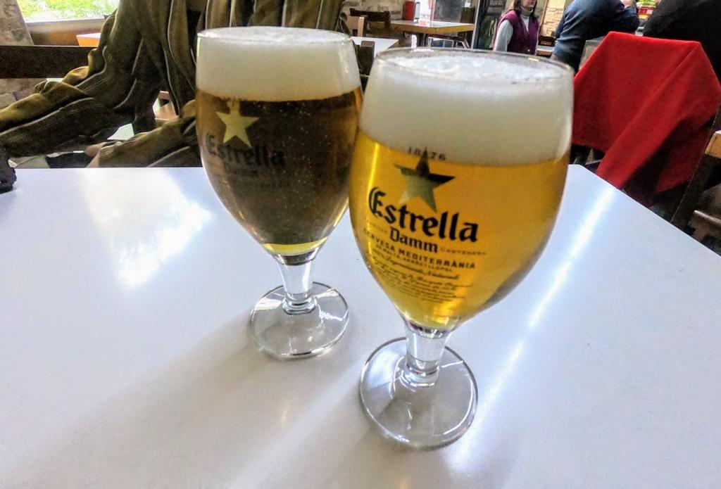 バルセロナのバル生ビール