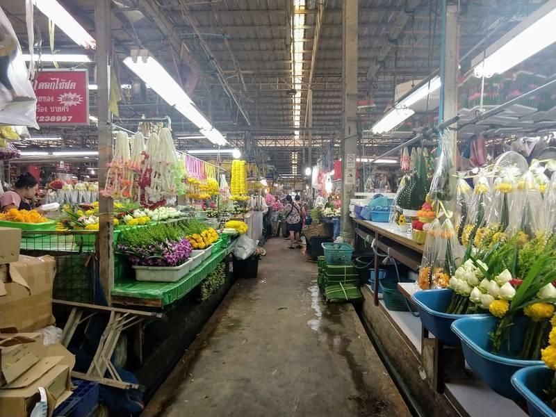 タイ 花市場