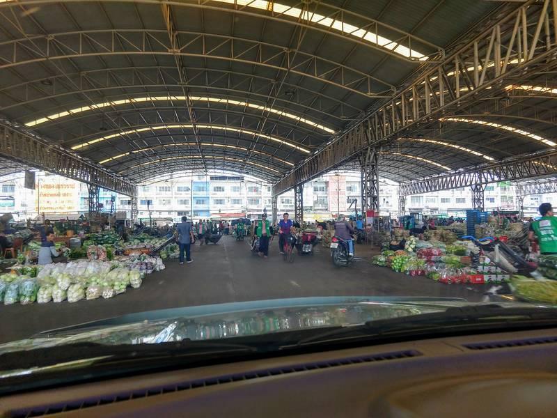 バンコク 野菜市場