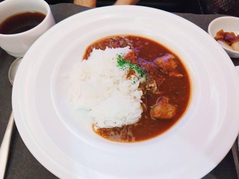 チキンカレー JALビジネスクラス 機内食