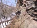 鉄平石の崖