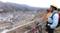 笹平の崖上