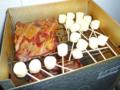 チーズを燻製する