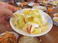 白菜とりんごの漬物