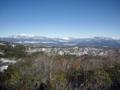 嬬恋盆地と四阿山、草津白根山