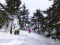 四阿山スノーシュートレッキング