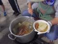 アルミ缶でご飯炊き
