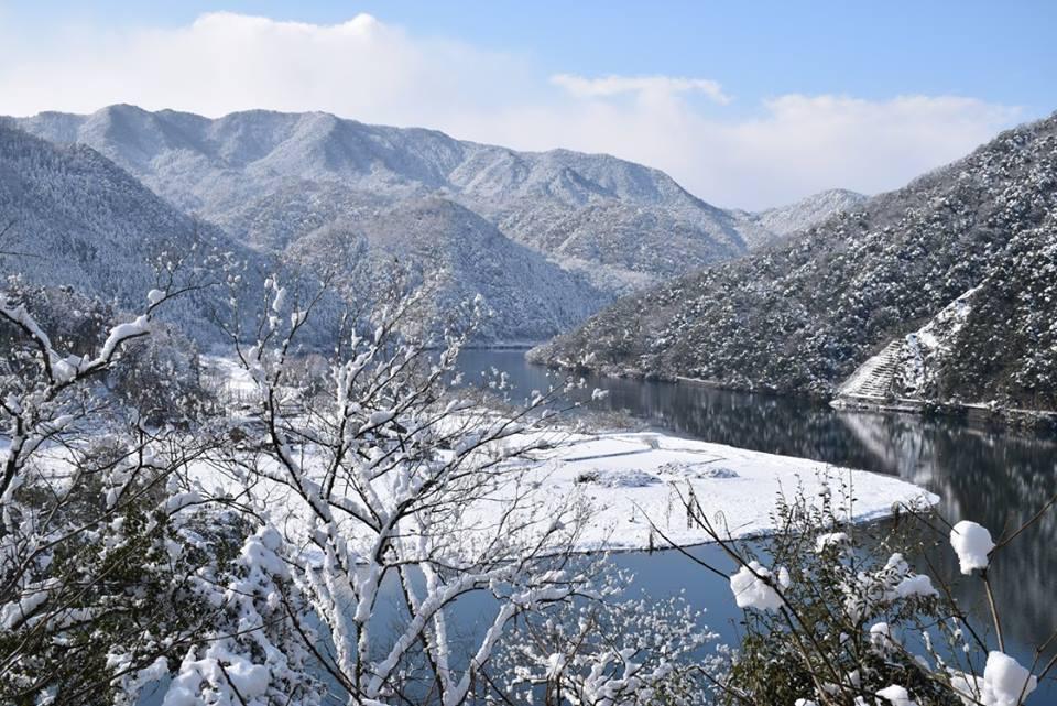美郷町の雪景色(江の川など)tags[島根県]