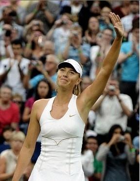 シングルス準々決勝。勝利したマリア・シャラポワ