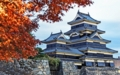 紅葉と松本城』長野・松本