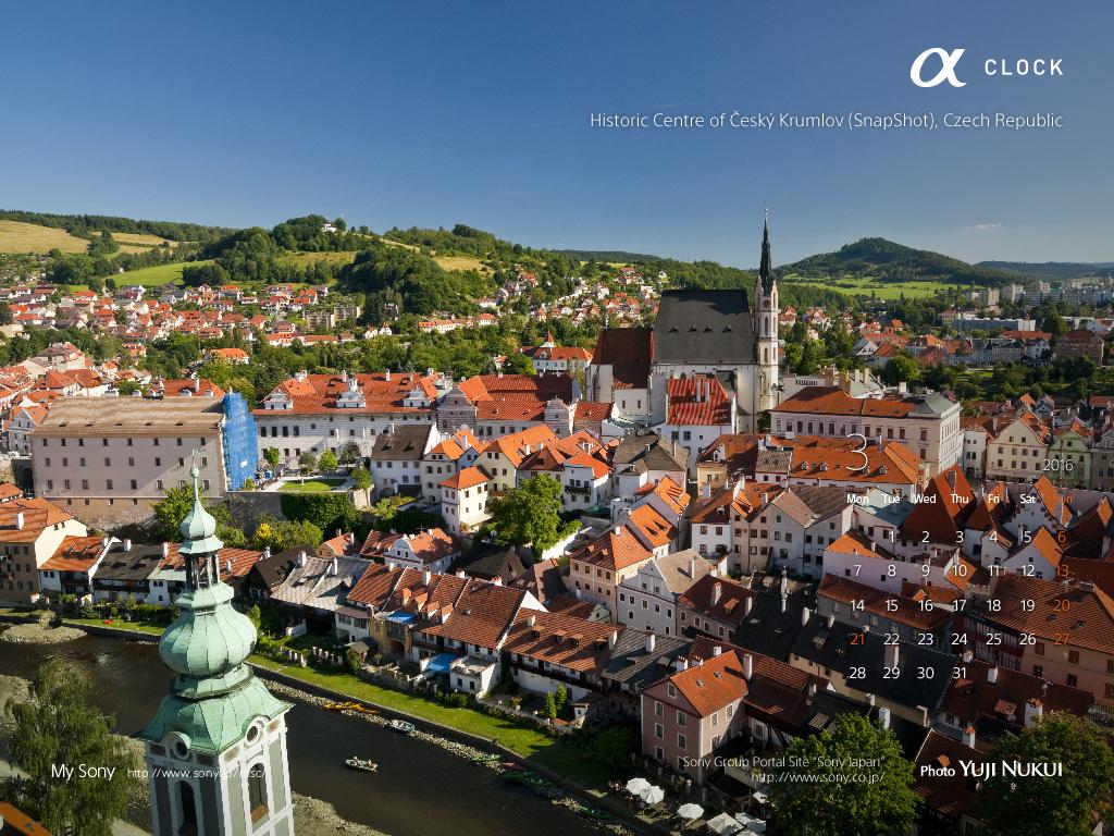 sony世界遺産カレンダー チェコ共和国チェスキー・クルムロフ1024_768