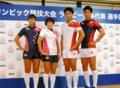 7人制ラグビーの男女日本代表選手団