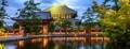 「東大寺大仏殿と鏡池」