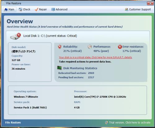 File Restoreの拡散