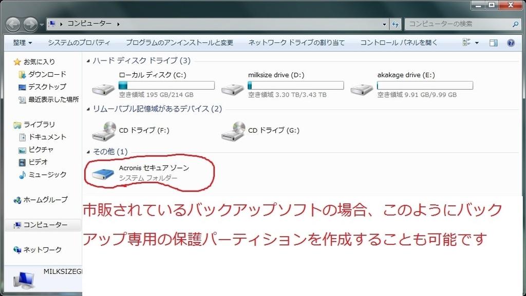 「Windows 8.1」のバックアップイメージ及び回復ドライブの作成方法9