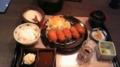 今日の夕食は、とろろ家にて。カキフライ御膳に地鶏の山椒焼き御膳