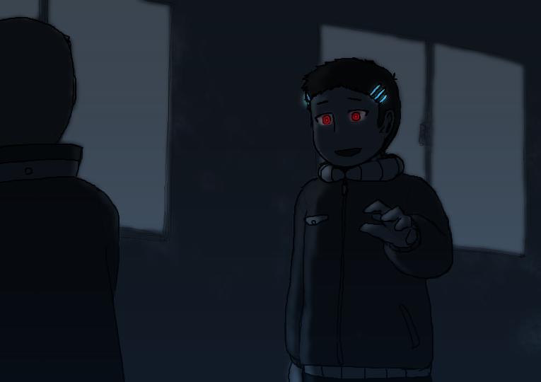 夜中の開拓基地