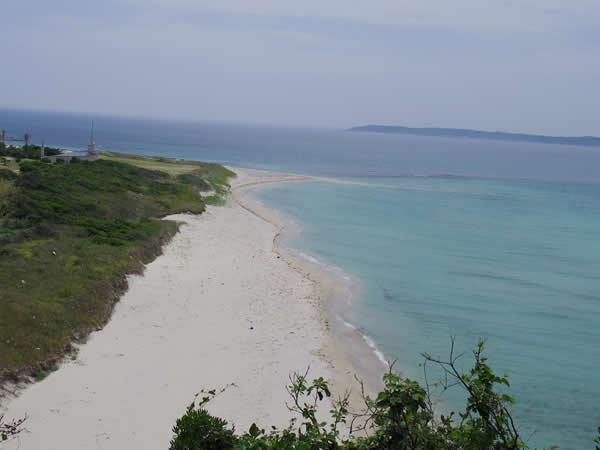角島大橋 砂浜