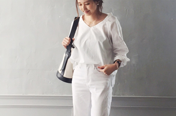 """ホワイトコーデだって洗えばOK!""""子育てのための服""""ではなく、 好きな服を着て子育てをしたい by Yoko"""