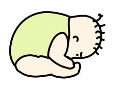 お座り完成!と思ったら、ガラケー並の二つ折り。赤ちゃんの柔らかさに驚愕 by 眉屋まゆこ