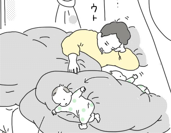 洗濯物に絡まり、家庭内で失踪し、そして落下…。寝返りトラブル多発でストレス激増~! by ナナハル