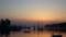 湾奥から夕暮の富士を望む