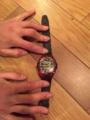 15.赤×黒時計