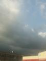 あの雲来るのか?来るなら早う来い。