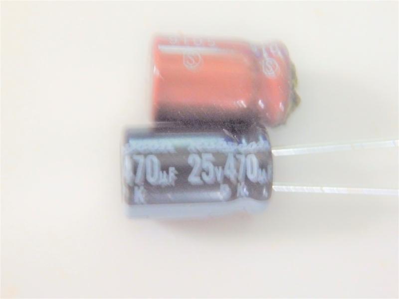 470μFの電解コンデンサー