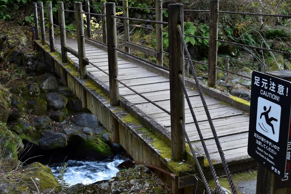 萬城の滝へ続く道