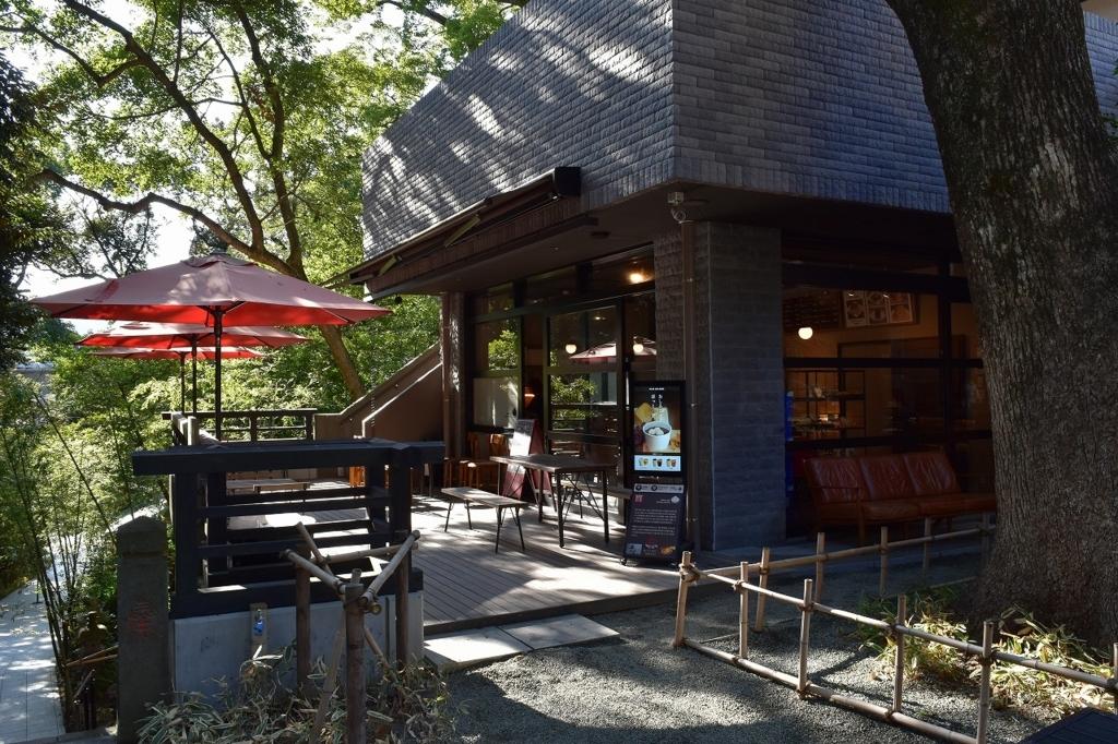 來宮神社のカフェ
