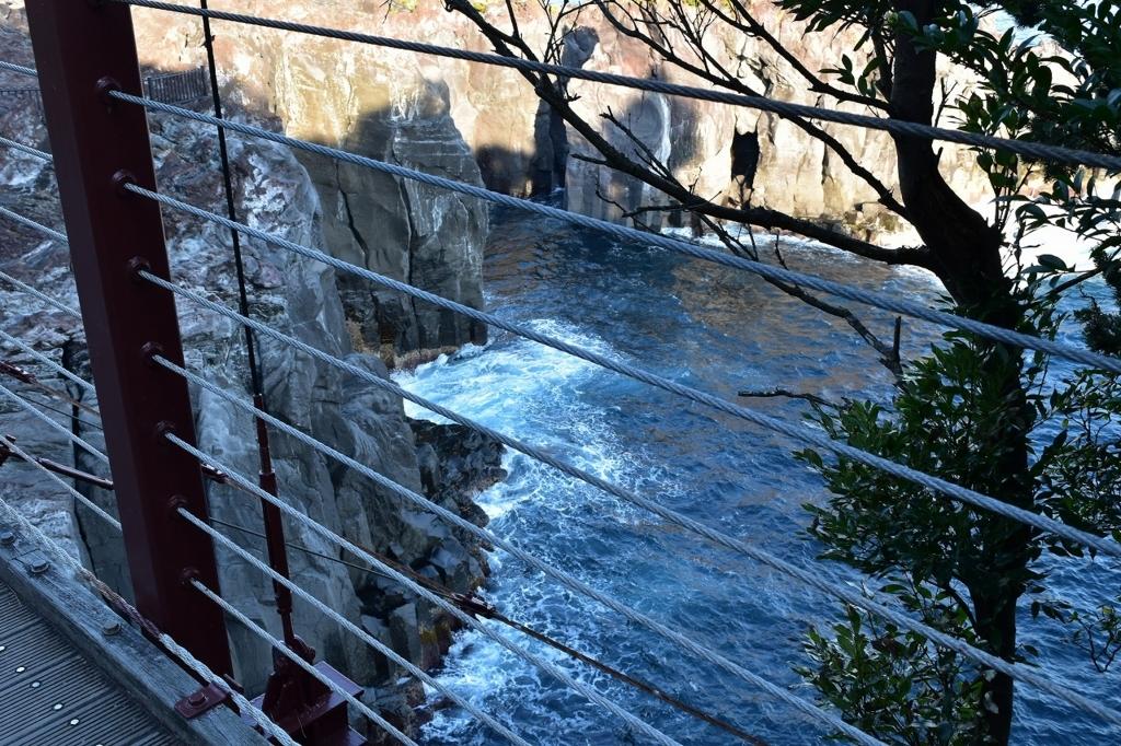 伊東市の門脇吊橋から見える絶景