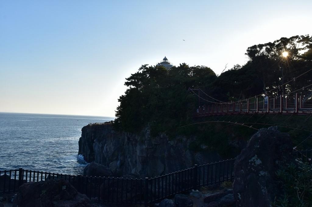 吊橋の全景