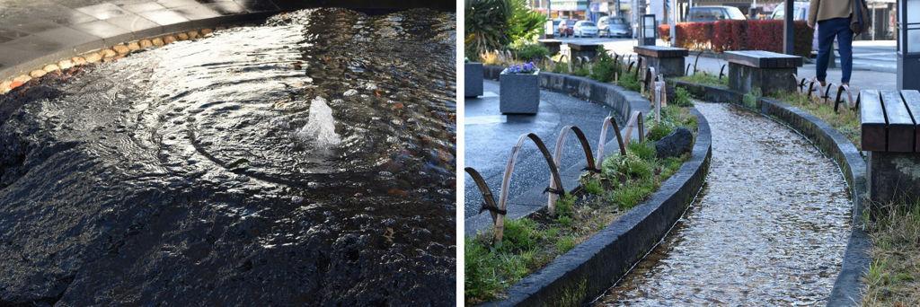 三島駅前の水のモニュメント