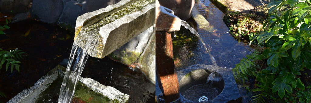 柿田川公園の湧き水の汲みどころ