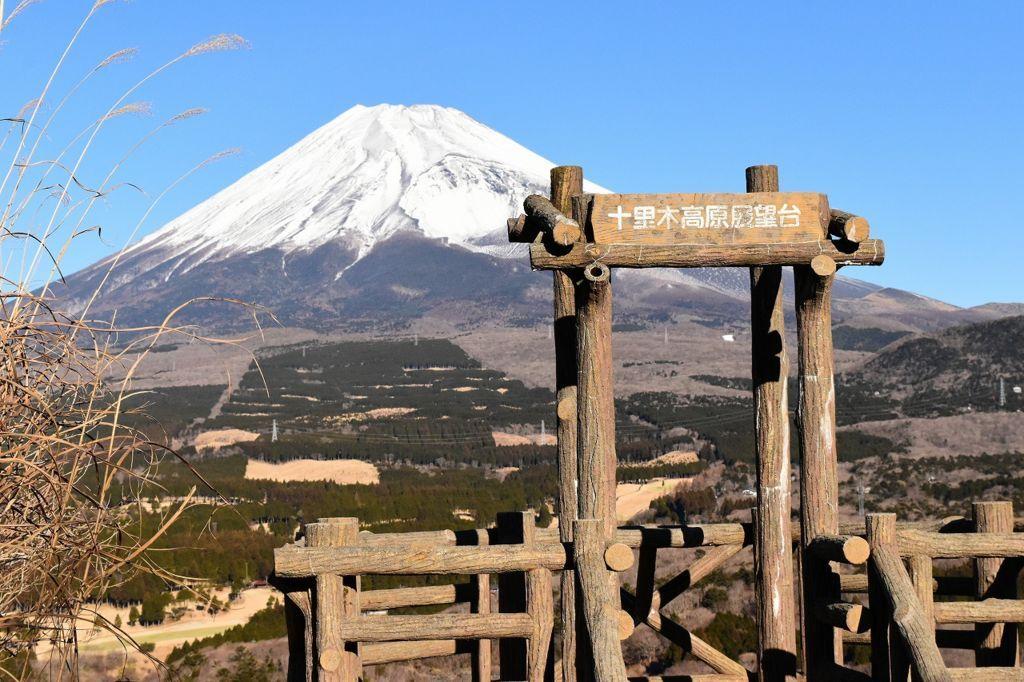 十里木高原展望台から望む富士山