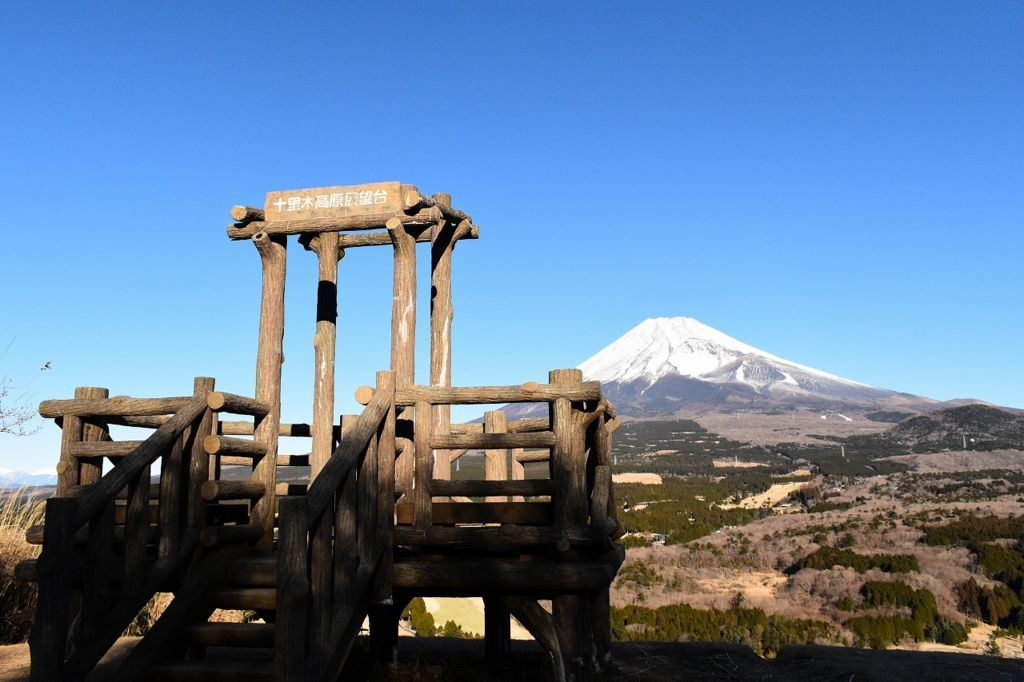 十里木高原展望から望む富士山