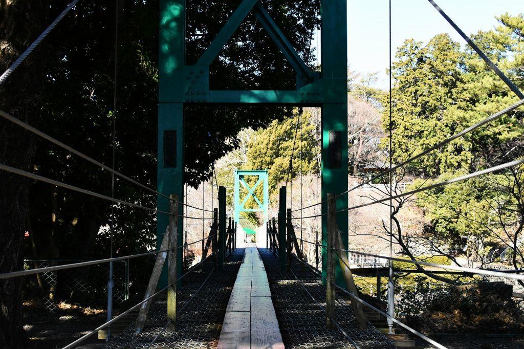 裾野市中央公園にある吊橋