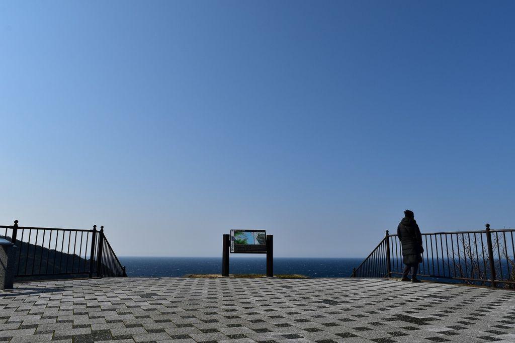出逢い岬から眺める駿河湾
