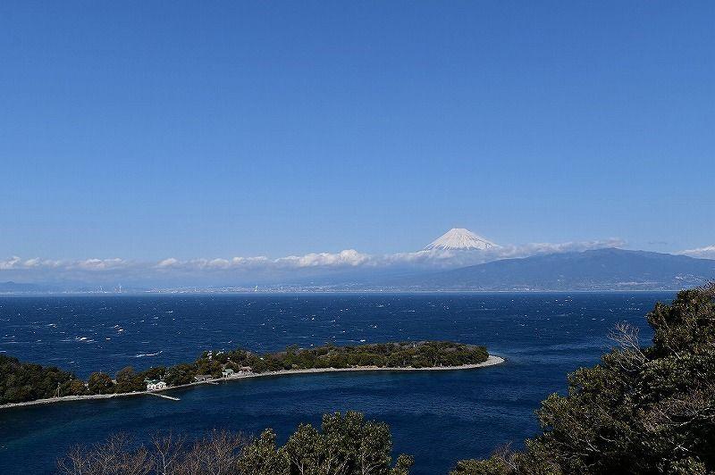 大瀬崎近くの富士山ビュースポット