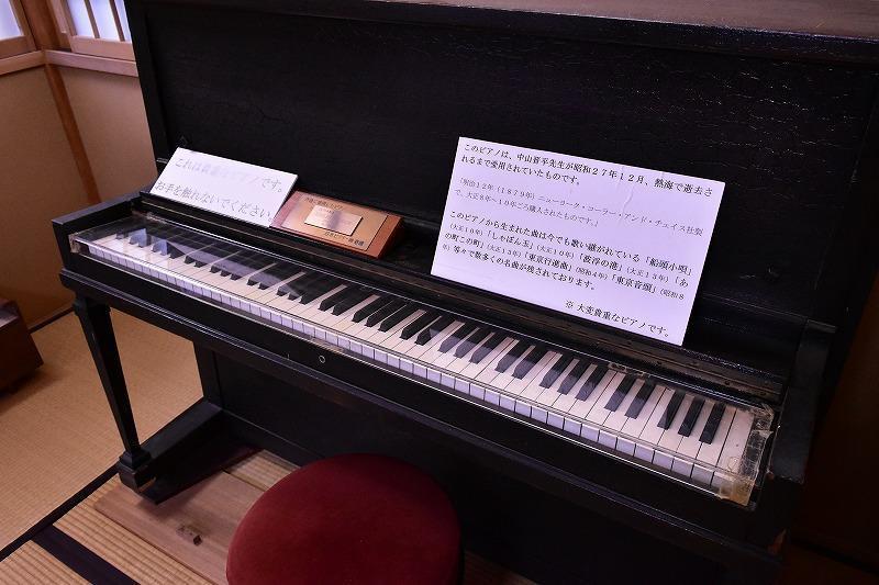 シャボン玉の作曲に使われたピアノ