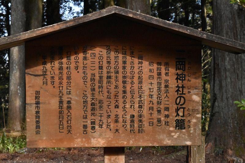 二岡神社の石灯龍